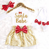 SANTA BABE OUTFIT - Minnie Mouse Birthday Outfit