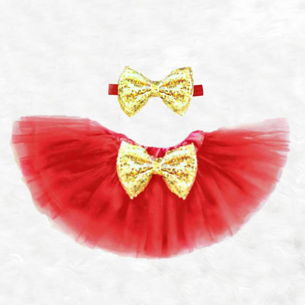 Red and Gold Tutu Set