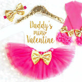 Baby Girl Valentine's Day Outfit - Minnie Mouse Birthday Outfit