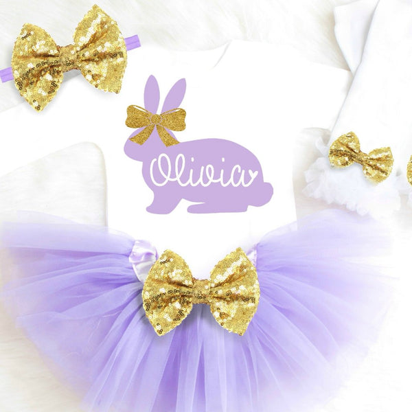 Girls Easter Outfit Purple