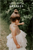 Blush and Gold Flower Girl Dresses, Sequin Flower Girl Dresses