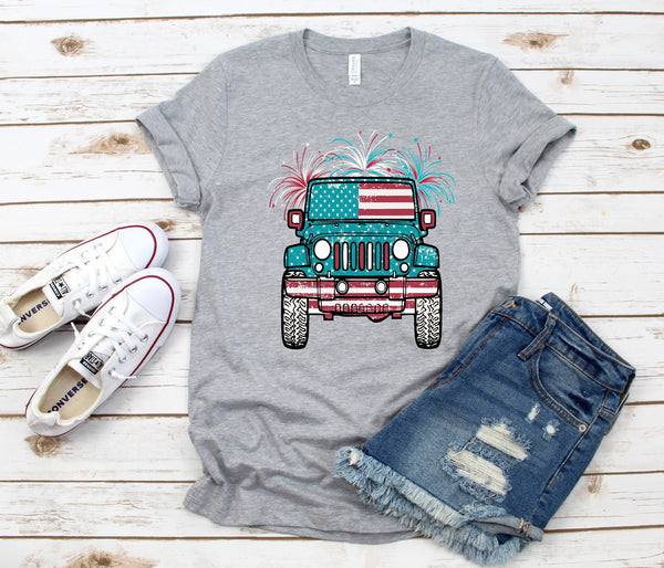 4th of July Jeep Tee