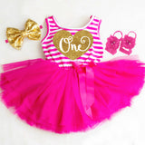 Pink and Gold 1st Birthday Dress First Birthday Tutu Dress