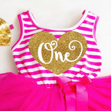First Birthday Dress Pink and Gold 1st Birthday tutu Dress