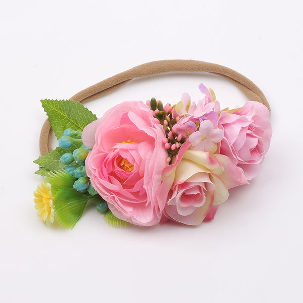 Floral Boho Headband - Light Pink