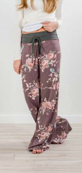 Purple Floral Lounge Pants