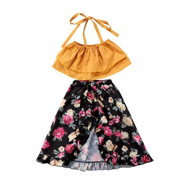 Floral Skirt and Top Set