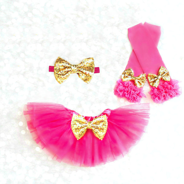 Hot Pink and Gold Tutu