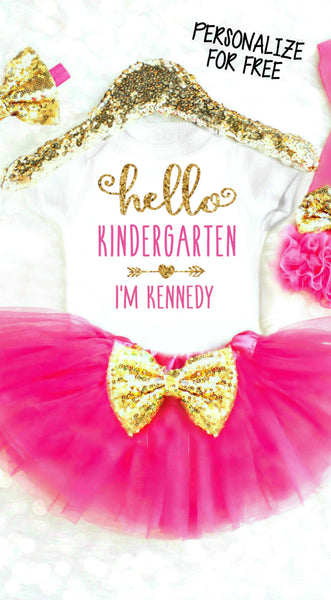 Personalized 1st Day of Kindergarten Shirt