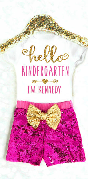 Personalized 1st Day of Kindergarten Outfit
