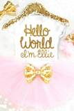 HELLO WORLD TUTU OUTFIT - Minnie Mouse Birthday Outfit