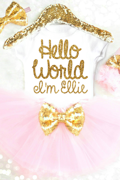 HELLO WORLD TUTU OUTFIT