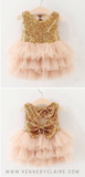 1st Birthday Dress Pink and Gold First Birthday Dress Sequin Dresses for Little Girls