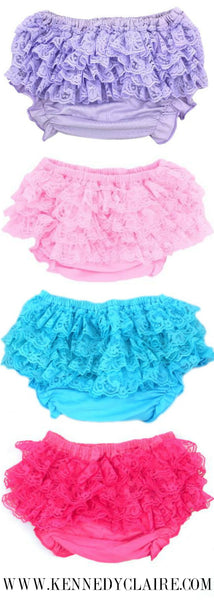 Turquoise Lace Bloomers