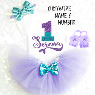 e95a9454c Mermaid First Birthday Outfit | Mermaid 1st Birthday Outfit