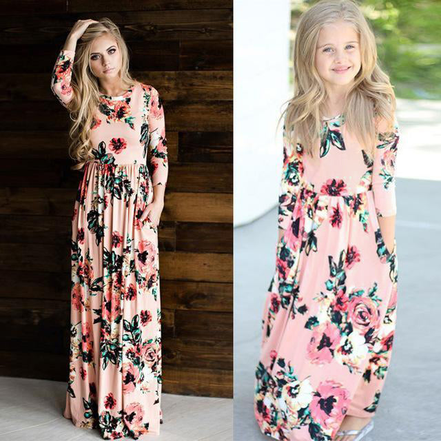 Mommy & Me Floral Dress Set - Blush