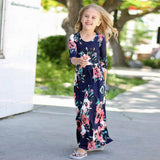 Mommy & Me Floral Dress Set - Navy Floral