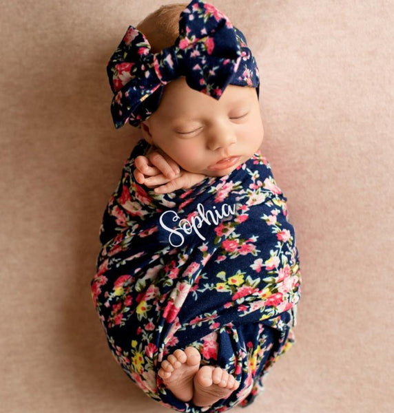 NAVY SWADDLE SET  (MINIMUM QUANTITY 3)