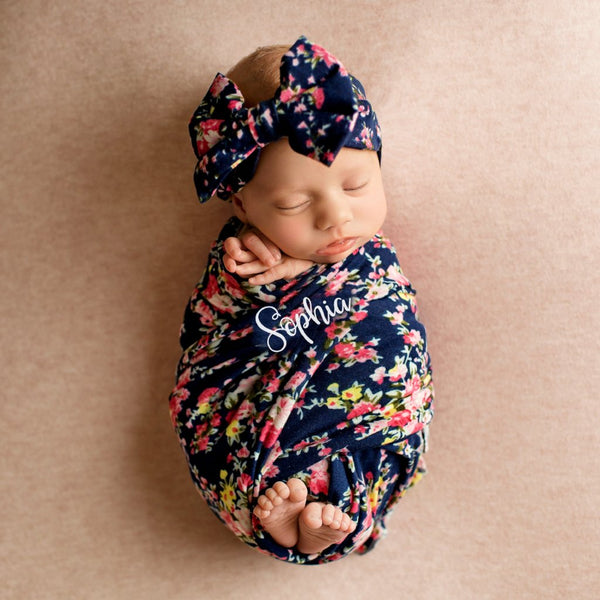 Baby Blanket Set - Navy