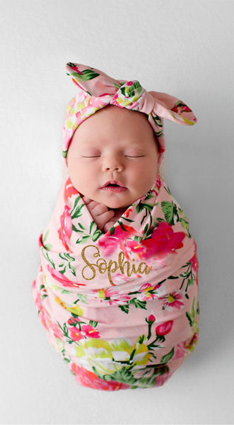 PERSONALIZED SWADDLE SET