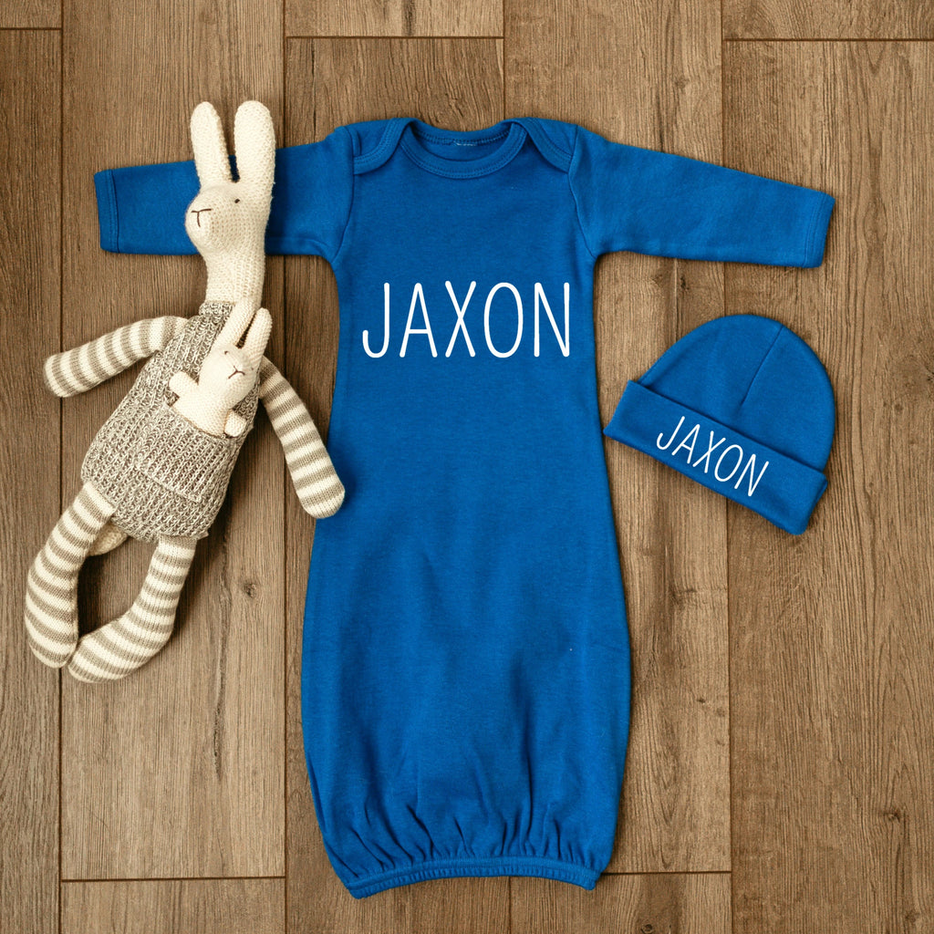 Personalized Baby Boy Outfit Blue
