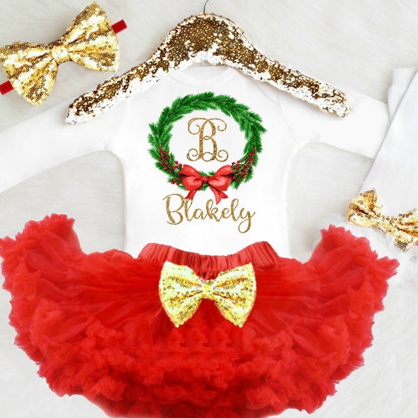 Personalized Girls Christmas Outfit