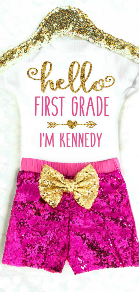 Personalized 1st Day of School Outfit