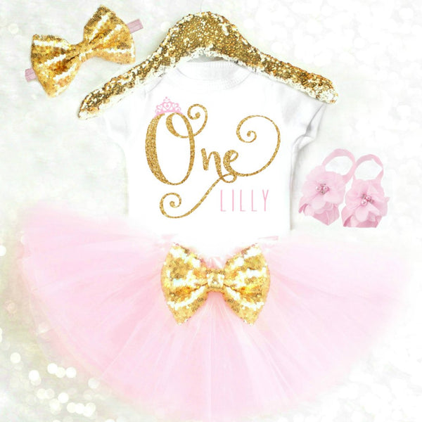 PERSONALIZED FIRST BIRTHDAY PRINCESS OUTFIT