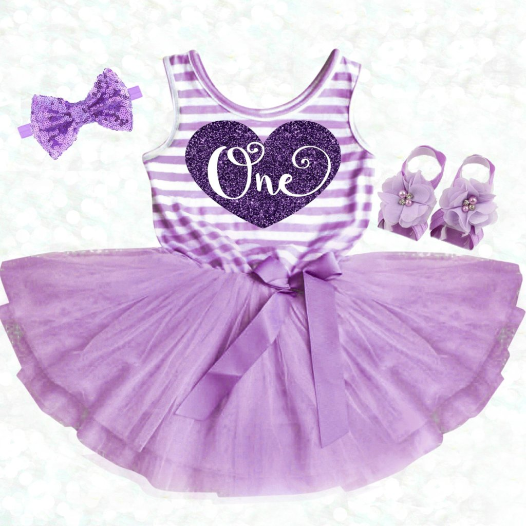 Purple FIRST BIRTHDAY DRESS