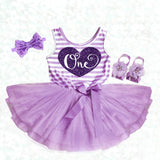 Purple 1st Birthday Dress Tutu