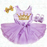 Purple First Birthday Dress Princess