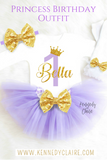 Purple and Gold First Birthday Outfit Sofia The First Tutu Birthday Outfit