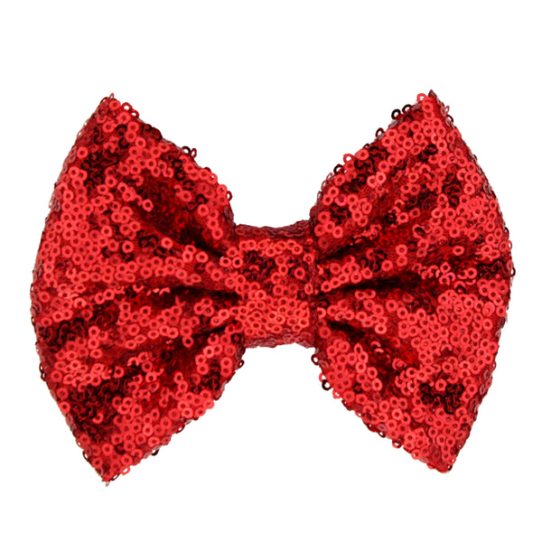 Red Sequin Bow Headband