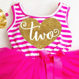 2nd Birthday Dress Pink and Gold 2 Birthday Dress