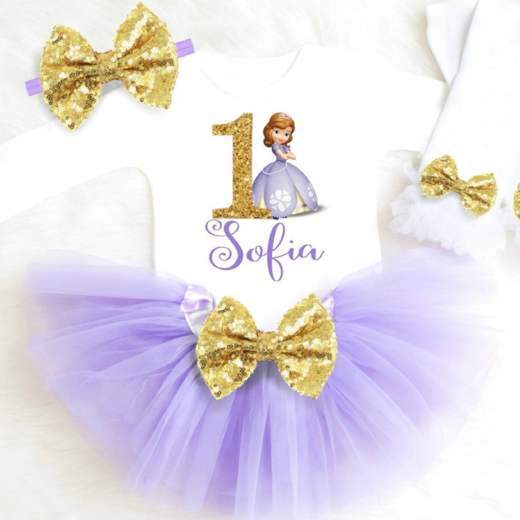 SOFIA THE FIRST BIRTHDAY OUTFIT