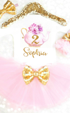 Personalized Tea Party Birthday Outfit