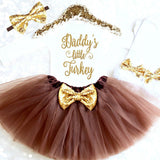 BABY GIRL THANKSGIVING OUTFIT - Minnie Mouse Birthday Outfit