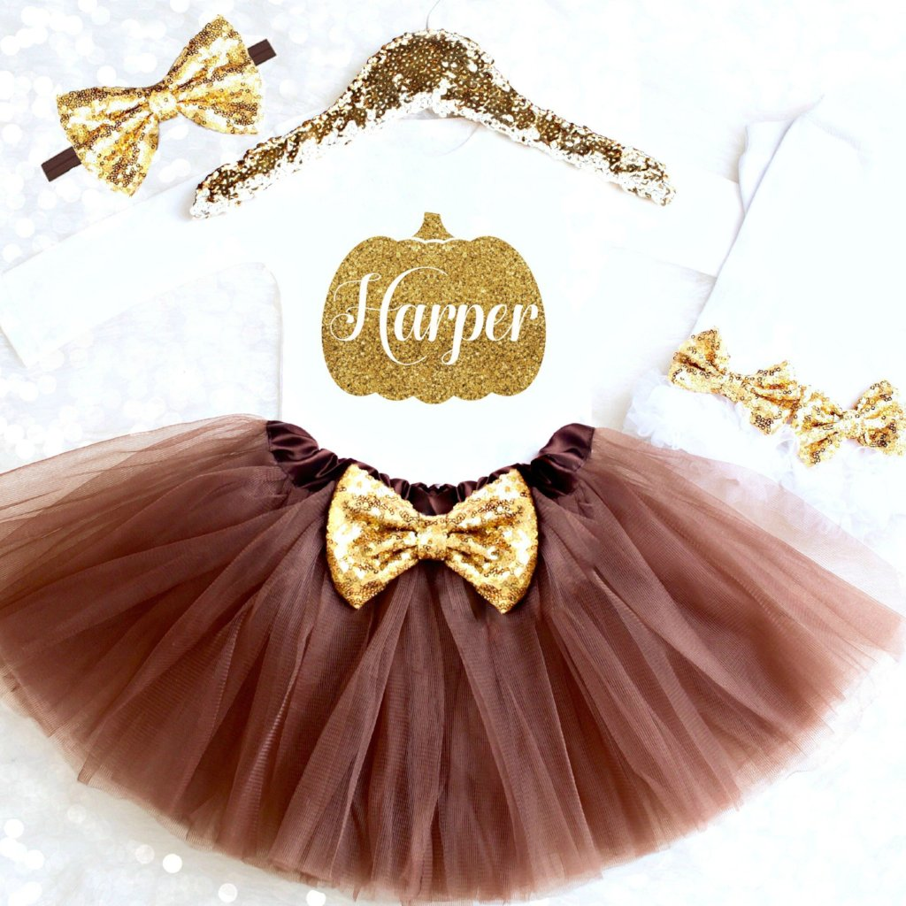 706208a55 THANKSGIVING TUTU OUTFIT. Personalized Thanksgiving Outfit Baby Girl