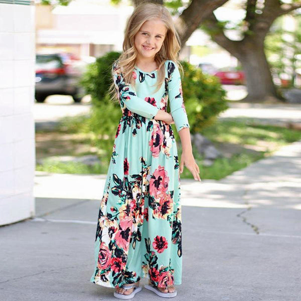 Mommy & Me Floral Dress Set - Mint
