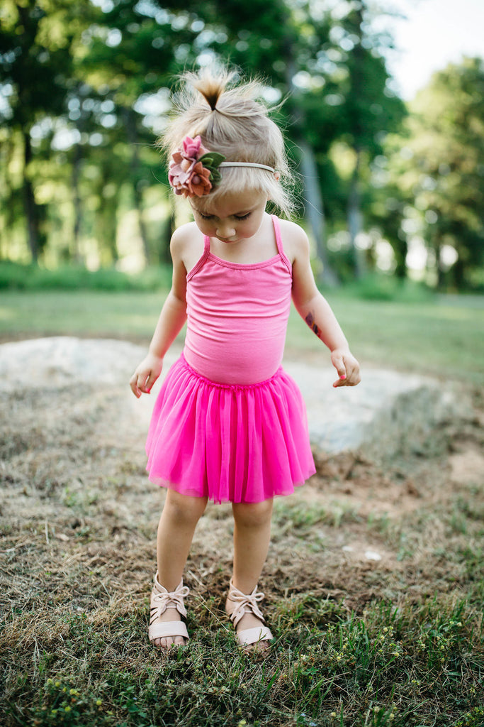 HOT PINK LEOTARD TUTU DRESS