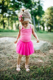HOT PINK LEOTARD TUTU DRESS - Minnie Mouse Birthday Outfit