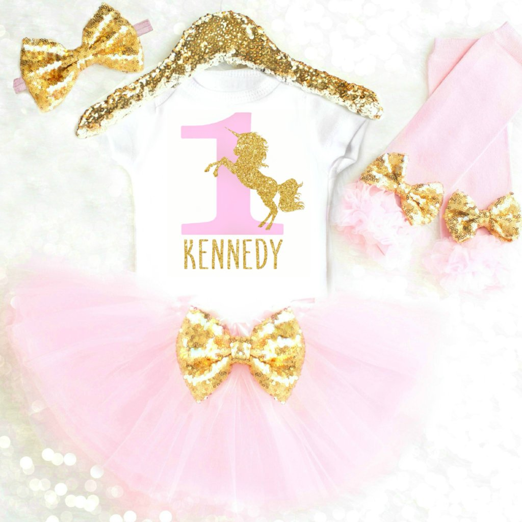 30e2d783e20e Personalized Unicorn First Birthday Outfit | Unicorn 1st Birthday ...