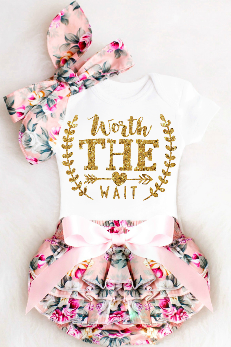 9c90e370945be Baby Girl Coming Home Outfits, Personalized Baby Girl Outfits