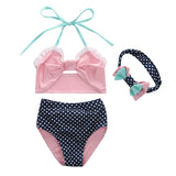 Claire Bikini and Headband Set - Minnie Mouse Birthday Outfit