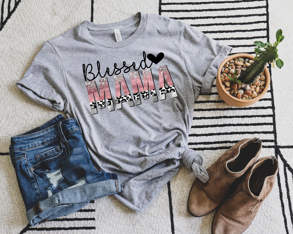 Blessed Mama with heart Tee