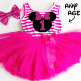 MOUSE BIRTHDAY TUTU DRESS - Minnie Mouse Birthday Outfit