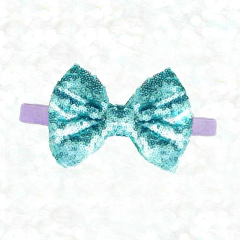Mermaid Sequin Bow Headband