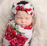 ROSE SWADDLE & HEADBAND SET