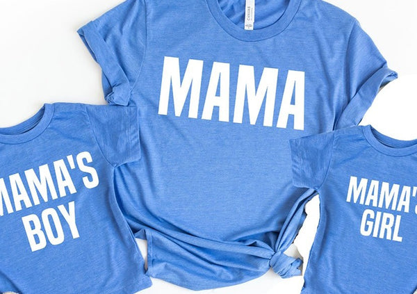 Mommy & Me Matching Shirts - Blue