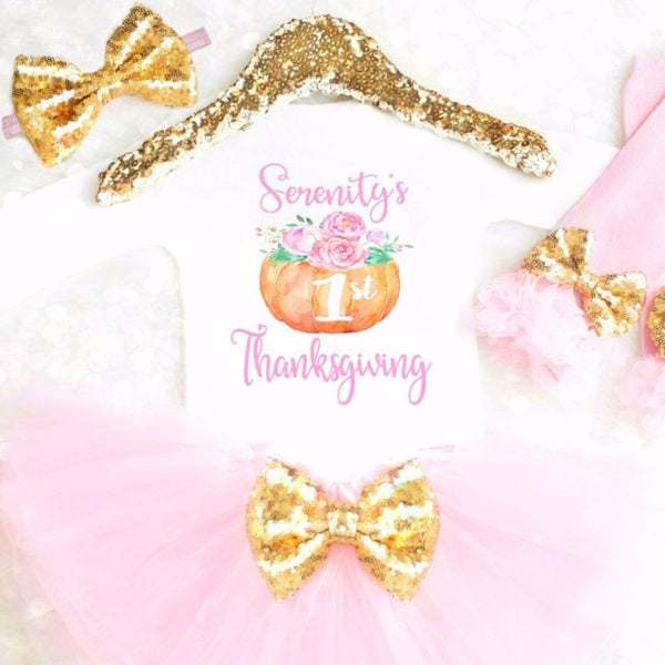 FIRST THANKSGIVING TUTU SET